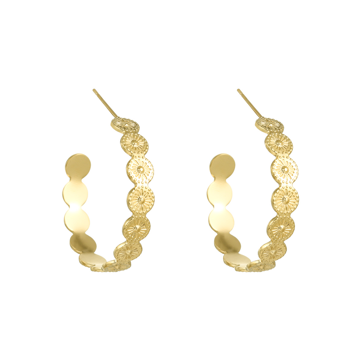 Image of   Big Penelope Earrings - Guldfarvet