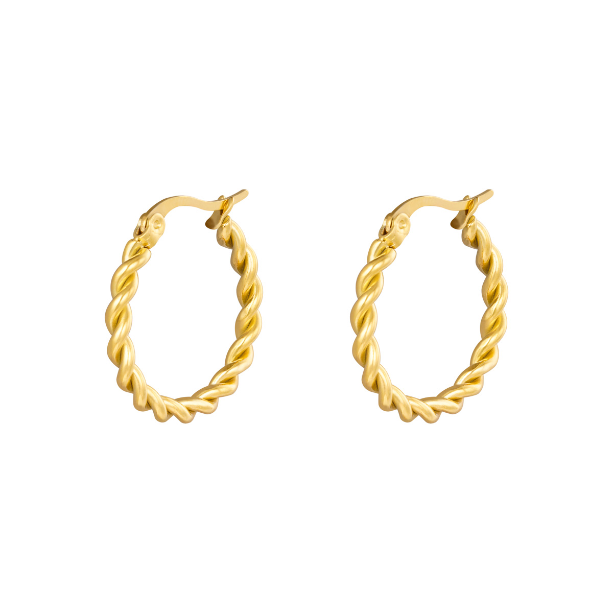 Twined Hoops - 22 mm.