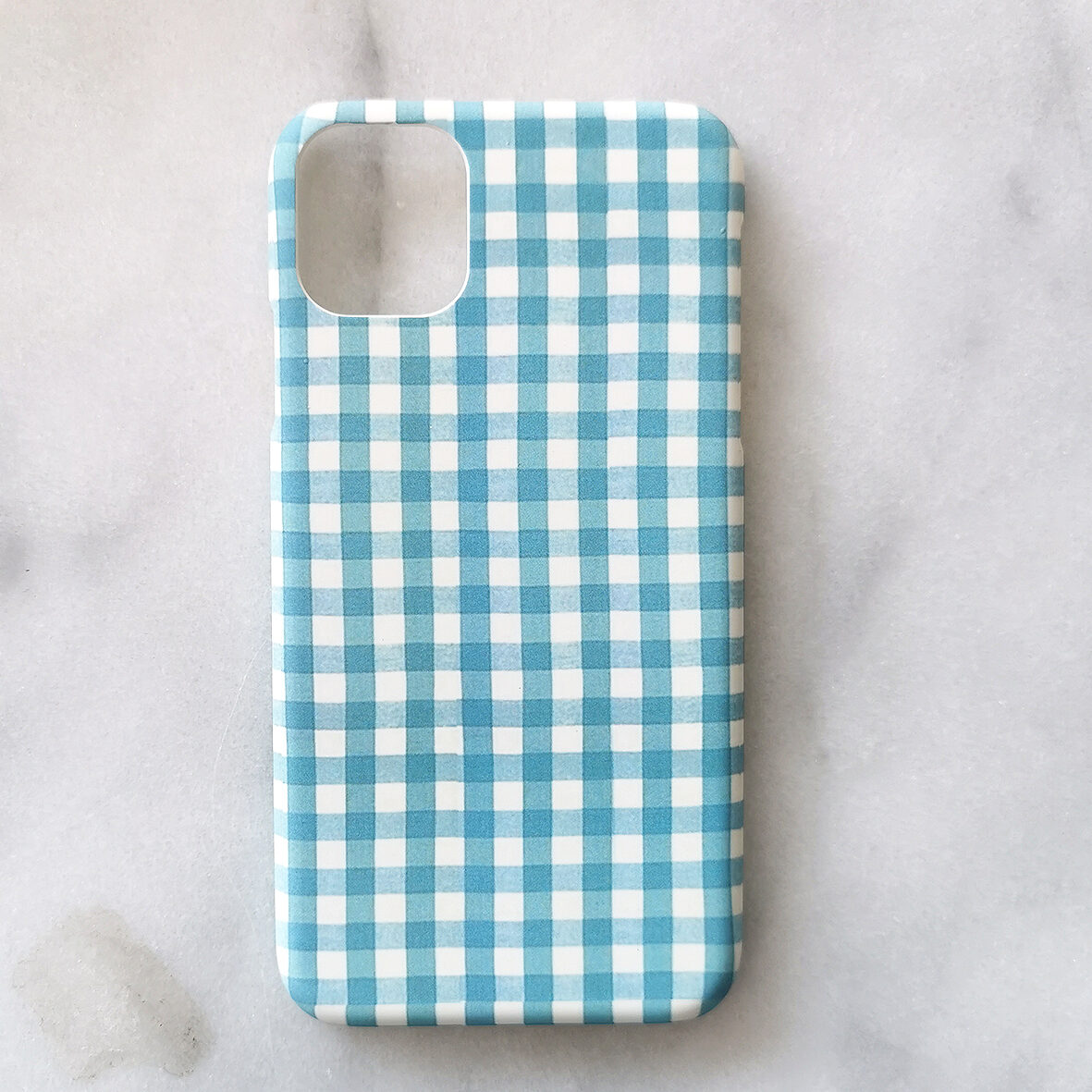 Blue Check iPhone Cover