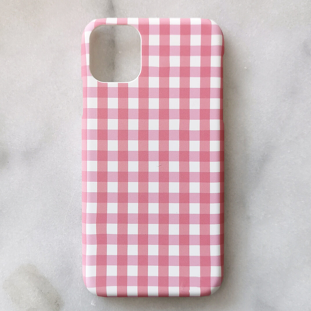 Pink Check iPhone Cover